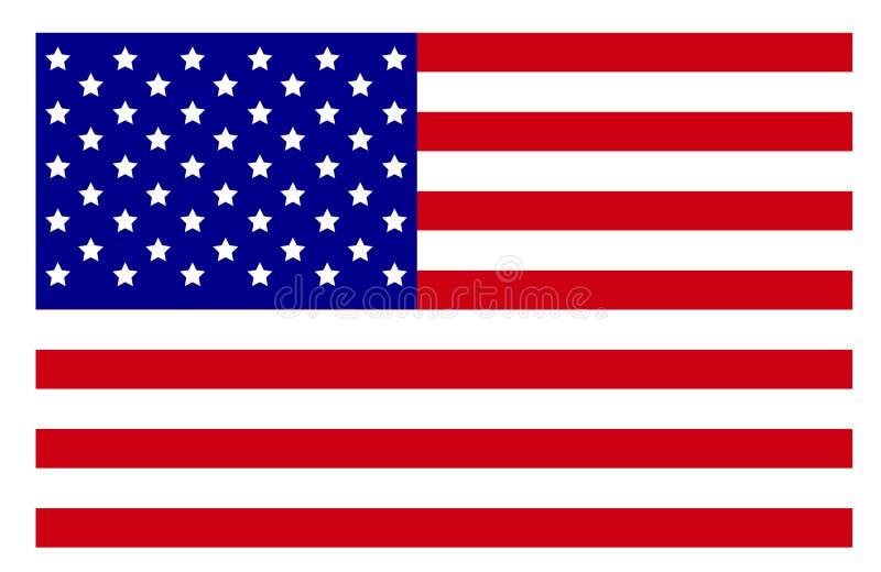 Los E.E.U.U. señalan la alta resolución por medio de una bandera stock de ilustración