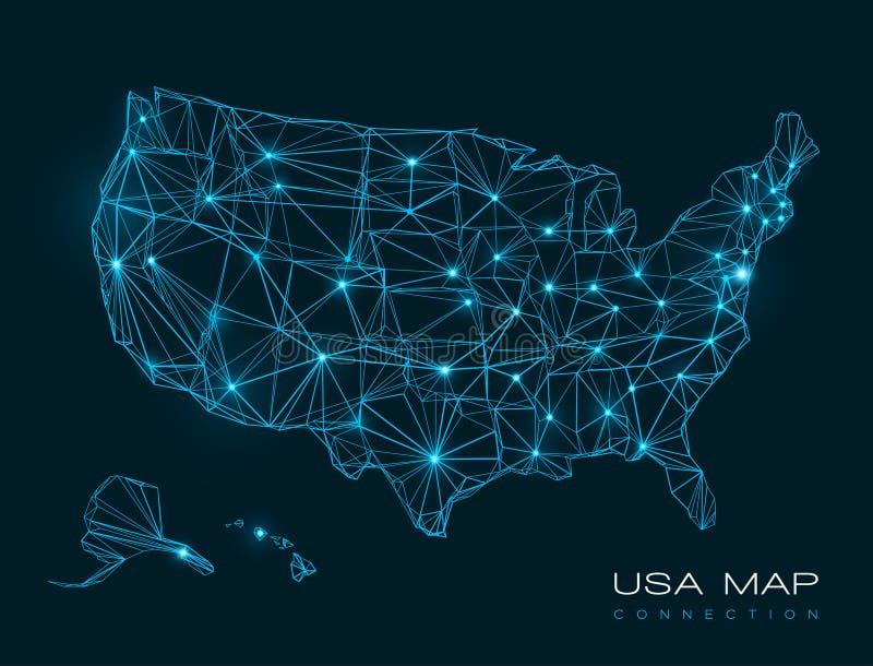 Los E.E.U.U. trazan el fondo abstracto de la tecnología - vector libre illustration