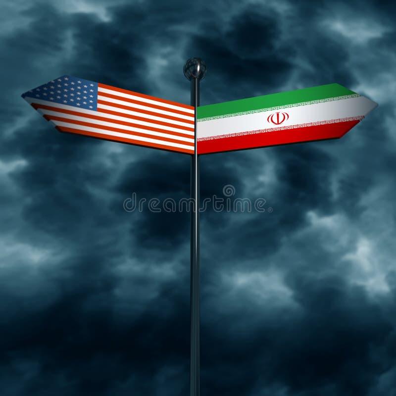 Los E.E.U.U. y relaciones diplomáticas de Irán libre illustration