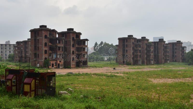 Los edificios abandonados imagen de archivo