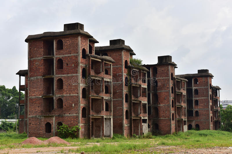 Los edificios abandonados fotos de archivo