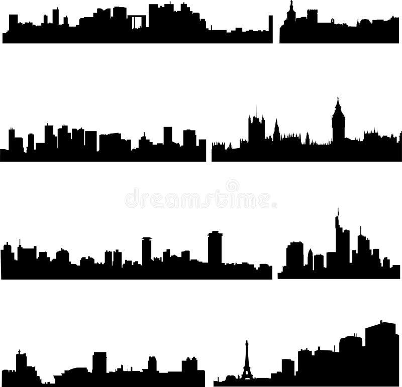 Los edificios altos en francés libre illustration