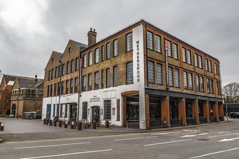 Los edificios de Rodboro de Guildford fotografía de archivo libre de regalías
