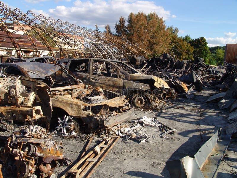 Los efectos del fuego imagen de archivo libre de regalías