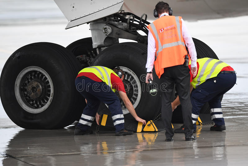 LOS eingebranntes Boeing 787 Dreamliner lizenzfreie stockfotografie