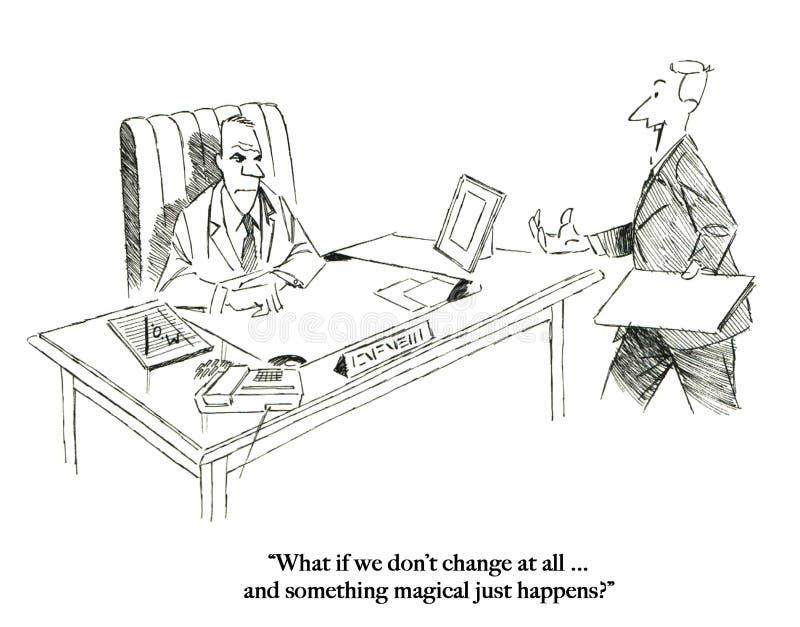 Los ejecutivos no cambiarán excepto magia stock de ilustración