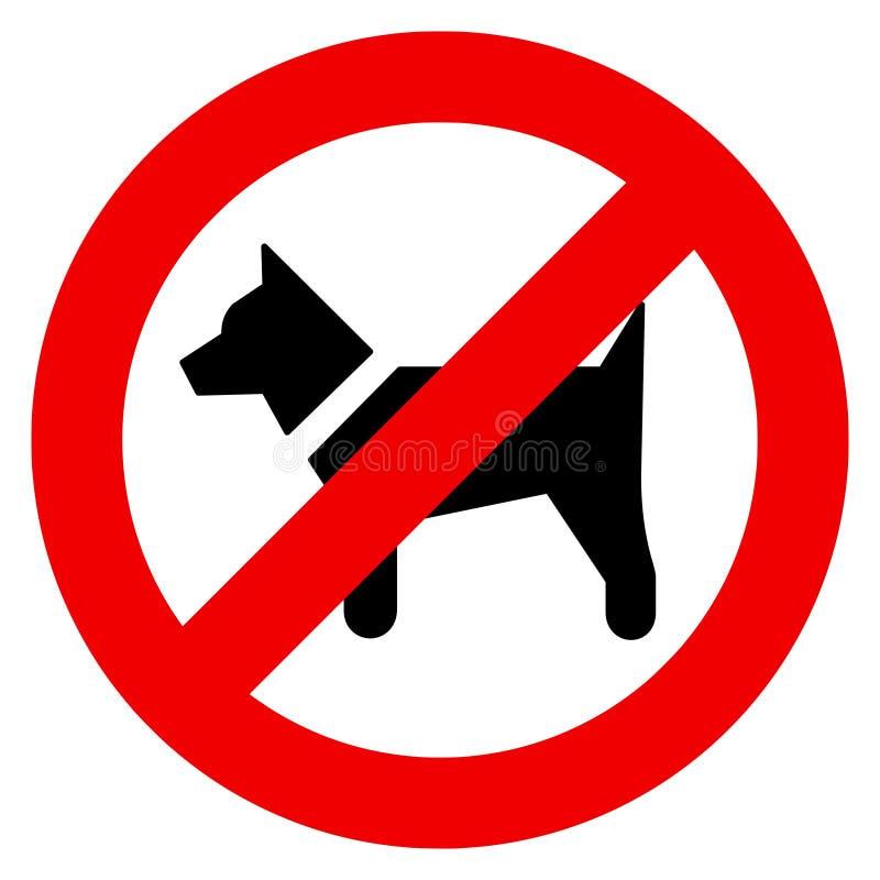 Los ejemplos del vector de los ningunos perros permitieron la muestra stock de ilustración