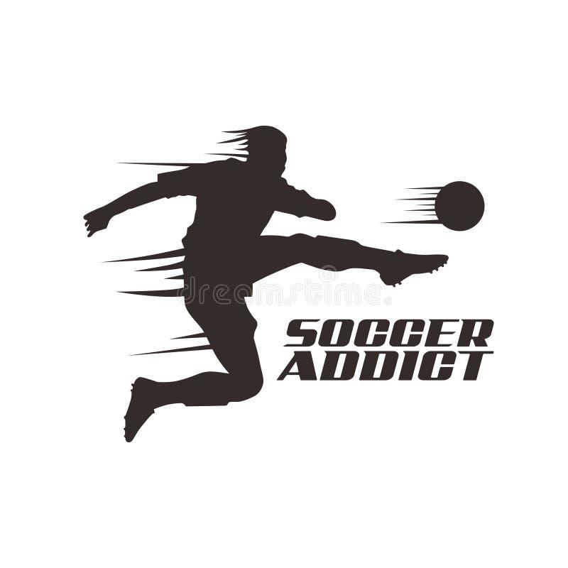 Los ejemplos libres del jugador de fútbol del vector golpean con el pie libre illustration