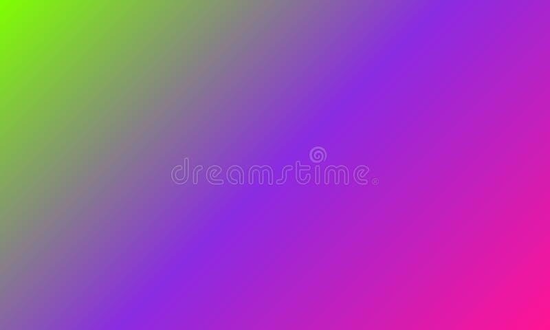 Los ejemplos multicolores resumen el verde del UFO de la sombra de la pendiente, Pin plástico, modelo colorido púrpura de Proton ilustración del vector