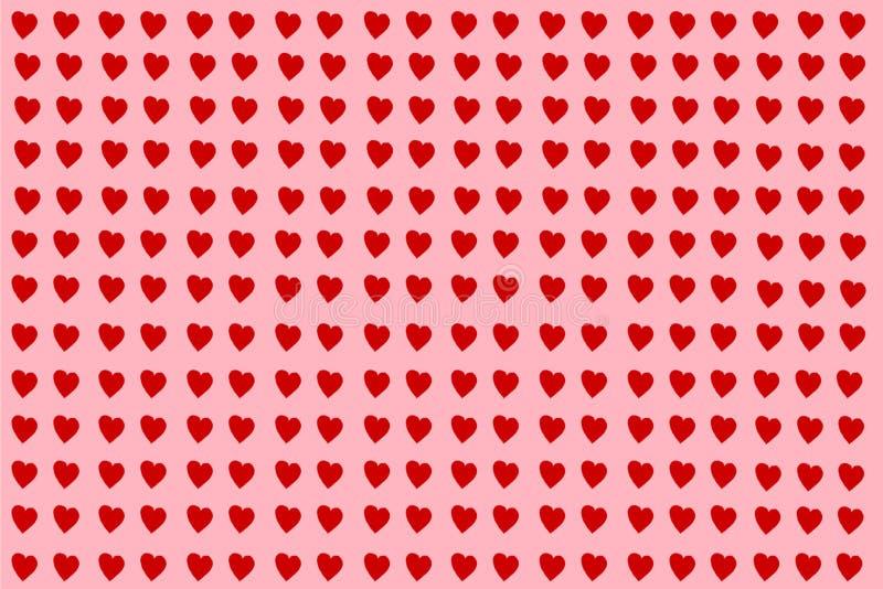 Los ejemplos rojos del corazón aislaron ilustración del vector