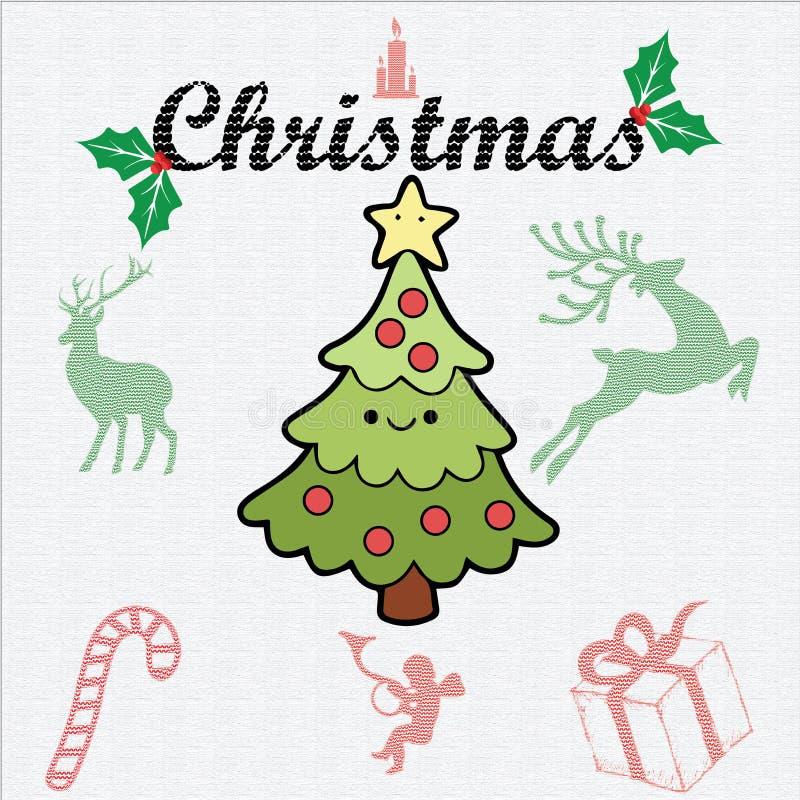 Los elementos de la Navidad embalan - logotipo - la textura - modelo foto de archivo