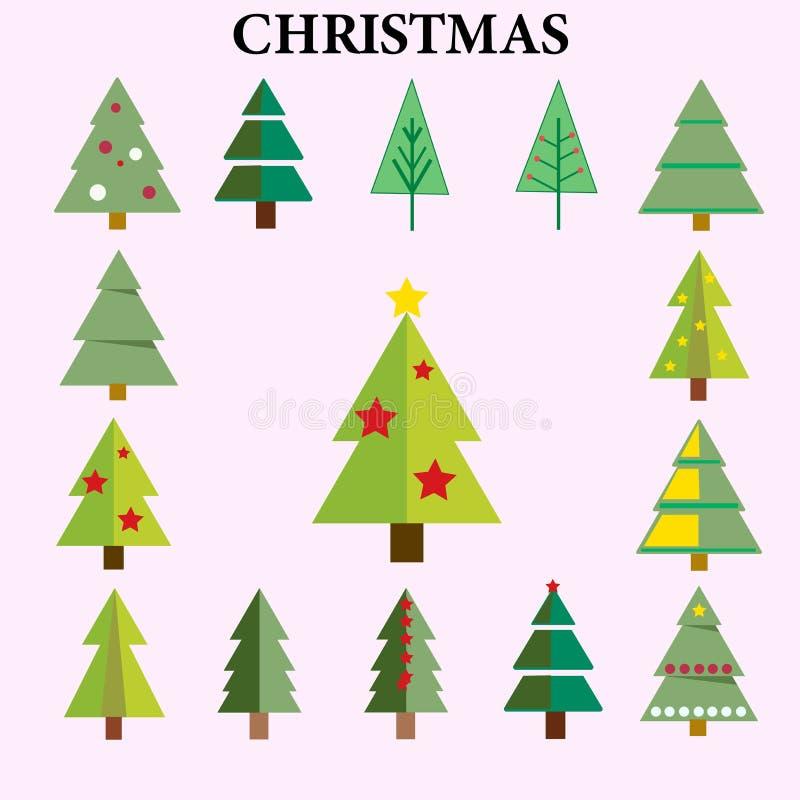 Los elementos del árbol de navidad embalan - el logotipo - foto de archivo libre de regalías