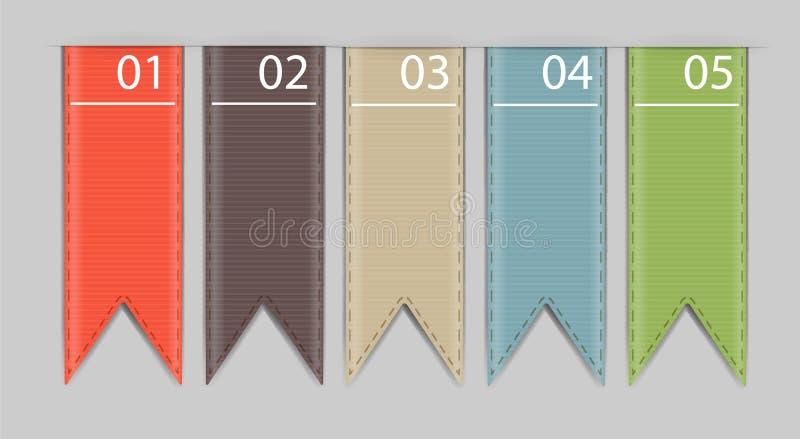 Los elementos del diseño de INFOGRAPHICS vector el ejemplo stock de ilustración