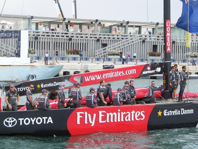 Los emiratos de la mosca, Toyota, Estrella, Team nuevo Zeland fotografía de archivo