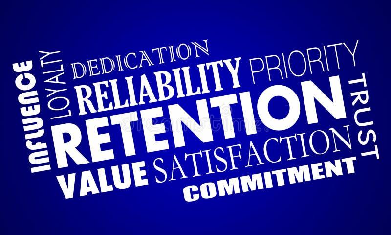 Los empleados de los clientes de la retención conservan el collage de la palabra del personal ilustración del vector