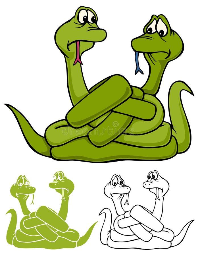Los errores de las serpientes stock de ilustración