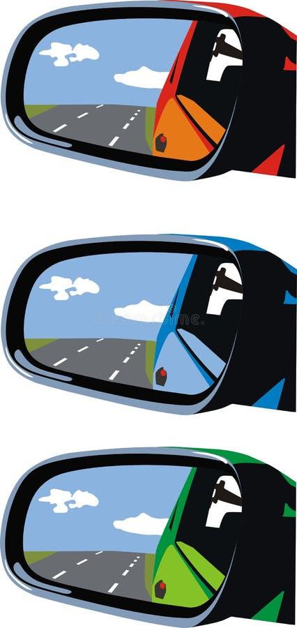Los espejos de coche libre illustration