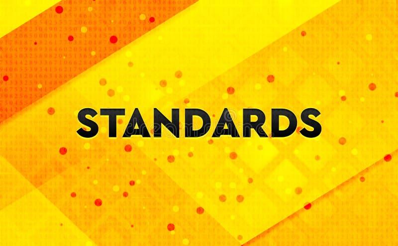 Los estándares resumen el fondo amarillo de la bandera digital libre illustration