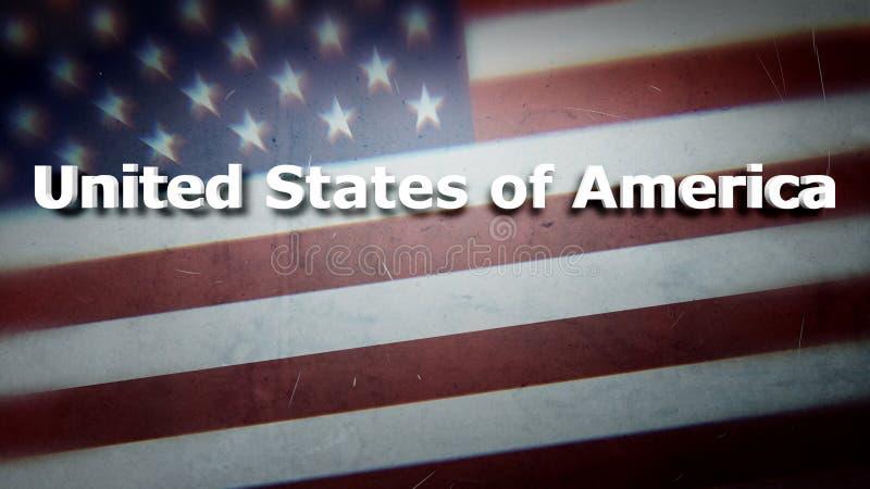 Los Estados Unidos de América ilustración del vector