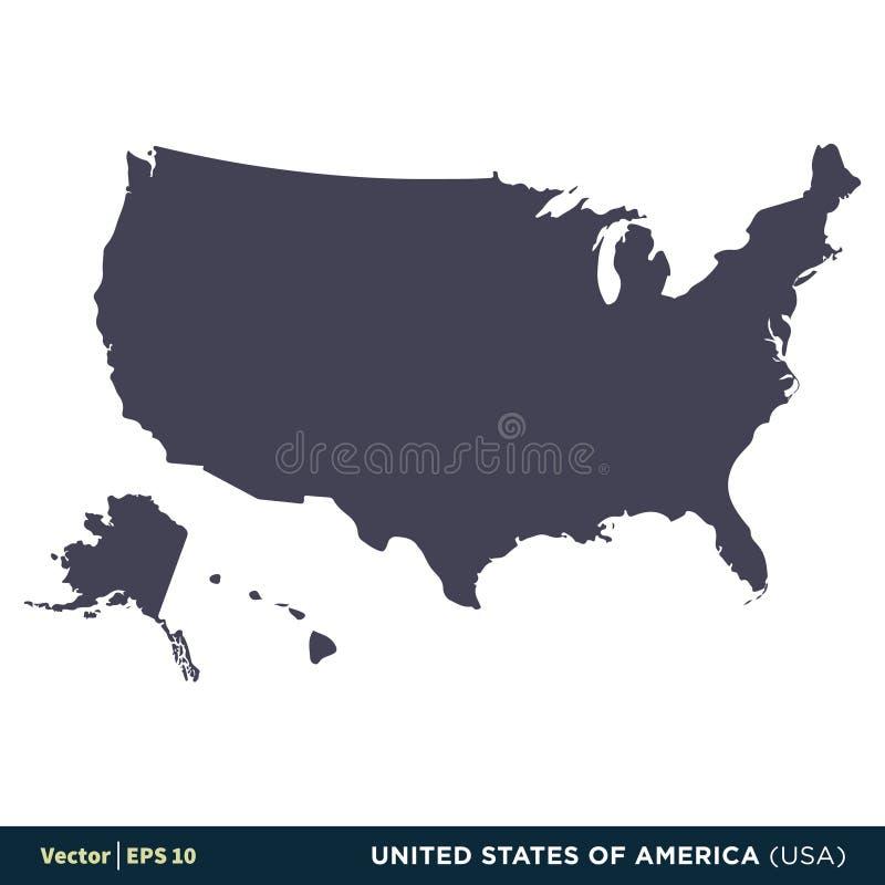 Los Estados Unidos de América los E.E.U.U. - los países de Norteamérica trazan el vector Logo Template Illustration Design del ic libre illustration
