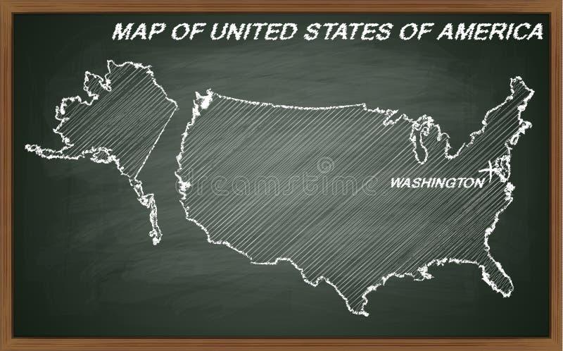 Los Estados Unidos de América en la pizarra libre illustration