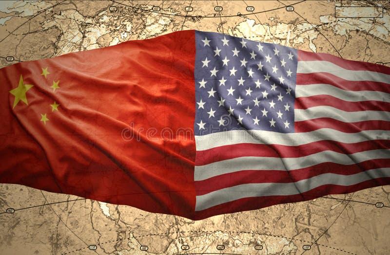Los Estados Unidos de América y China libre illustration