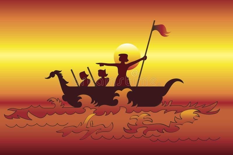 Los exploradores del mar stock de ilustración