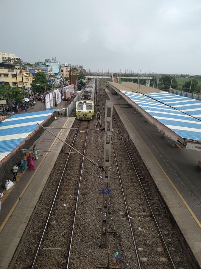 Los ferrocarriles de Indin transportan apuesto trino foto de archivo