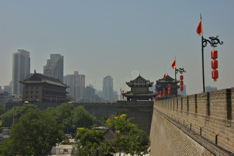 Los fortalecimientos de Xian, China imagen de archivo