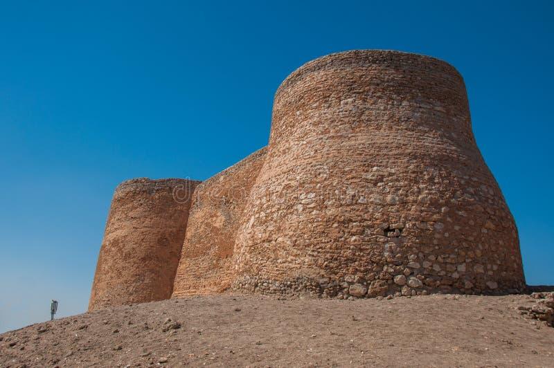 Los fortalecimientos del castillo de Tarout, isla de Tarout, la Arabia Saudita fotografía de archivo