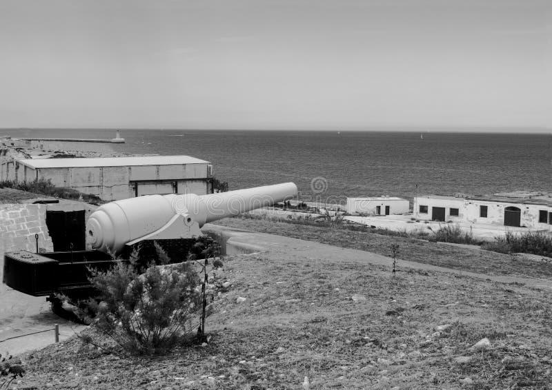 Los fortalecimientos del fuerte Rinella fotografía de archivo