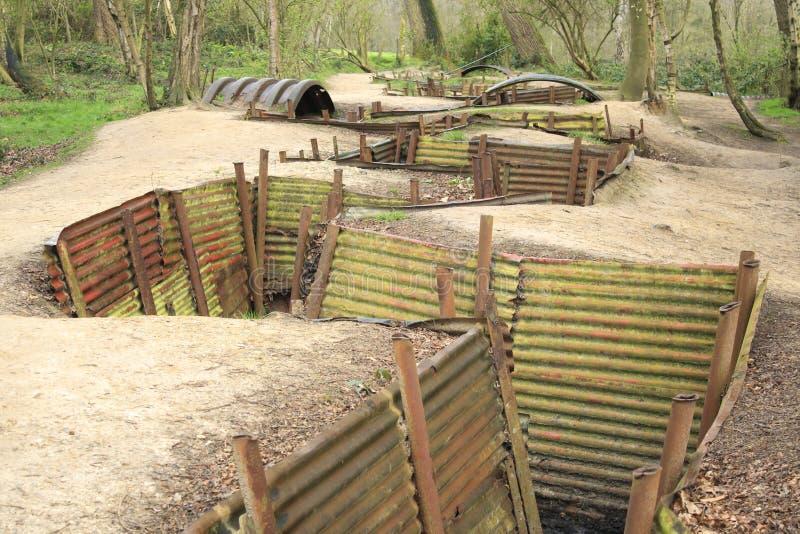 Los fosos Flandes colocan gran guerra mundial de Ypres imagen de archivo