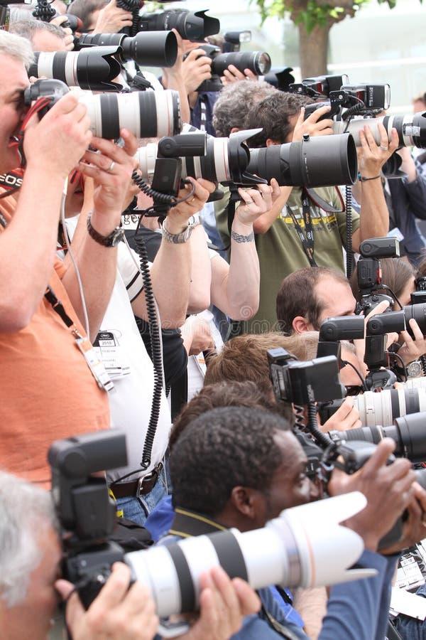 Los fotógrafos imagen de archivo