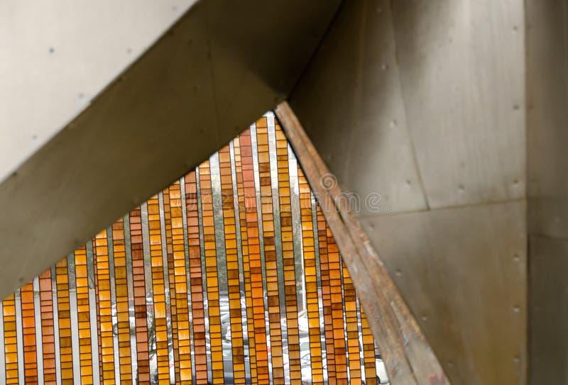 Los fragmentos de las instalaciones del arte moderno en Seattle se centran foto de archivo libre de regalías