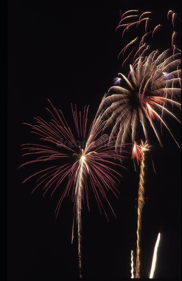 Los fuegos artificiales exhiben en Día de la Independencia americano imagenes de archivo