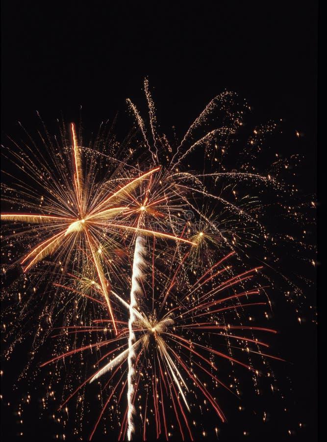 Los fuegos artificiales exhiben en Día de la Independencia americano fotografía de archivo libre de regalías