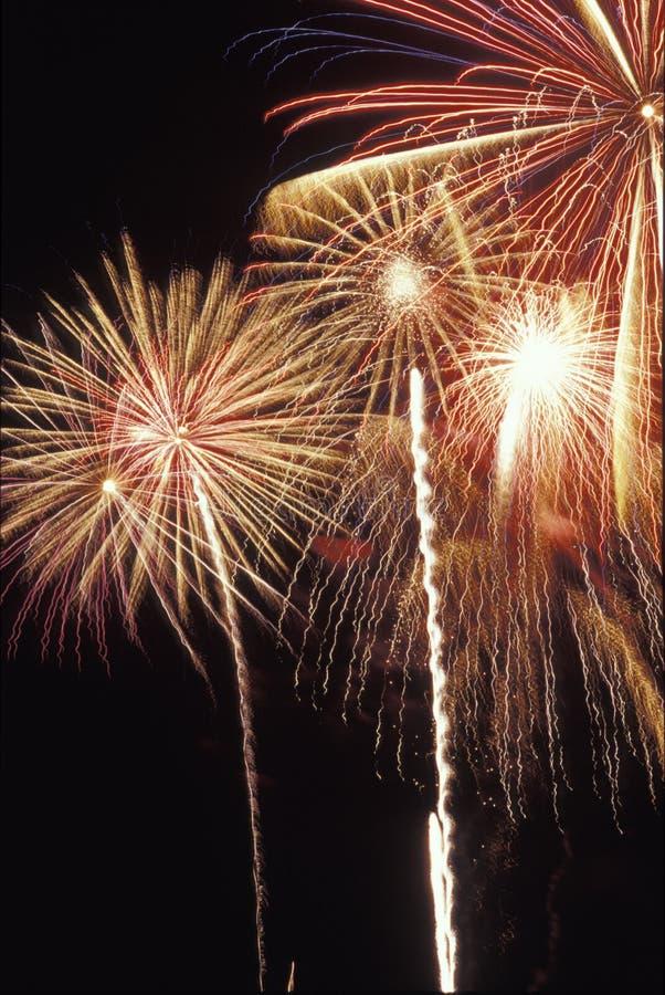 Los fuegos artificiales exhiben en Día de la Independencia americano imágenes de archivo libres de regalías