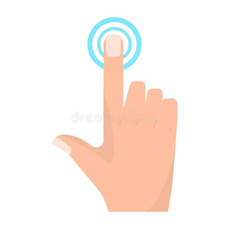 Los gestos de mano dobles de la pantalla táctil del golpecito vector el ejemplo stock de ilustración