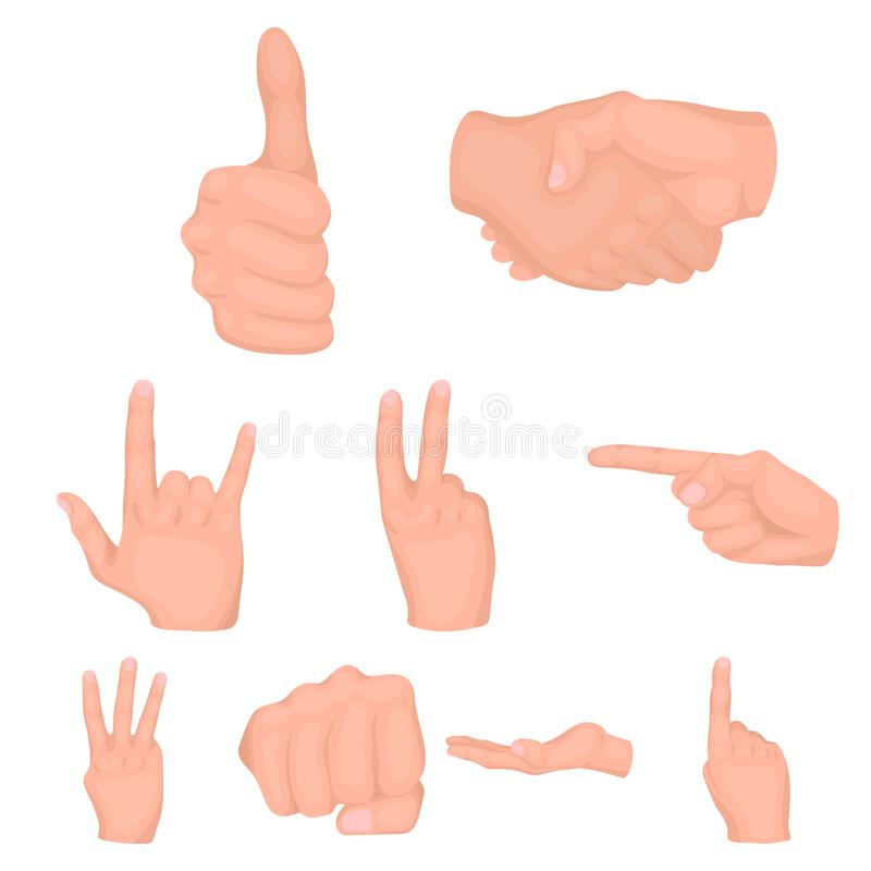 Los gestos de mano fijaron iconos libre illustration