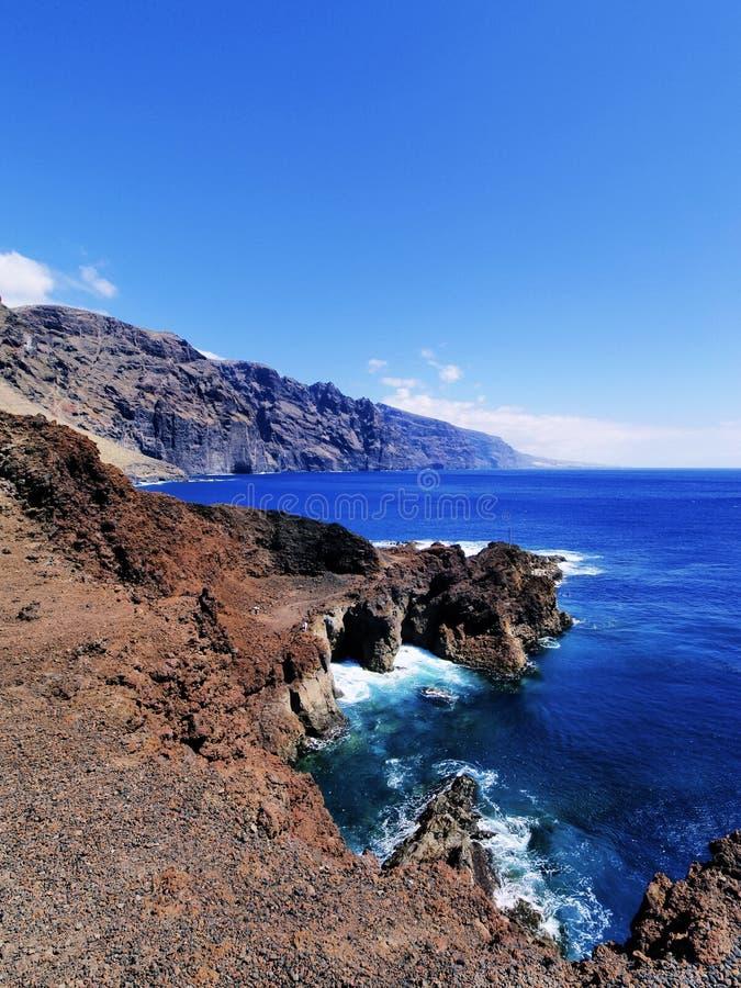 Los Gigantes en Tenerife imagen de archivo