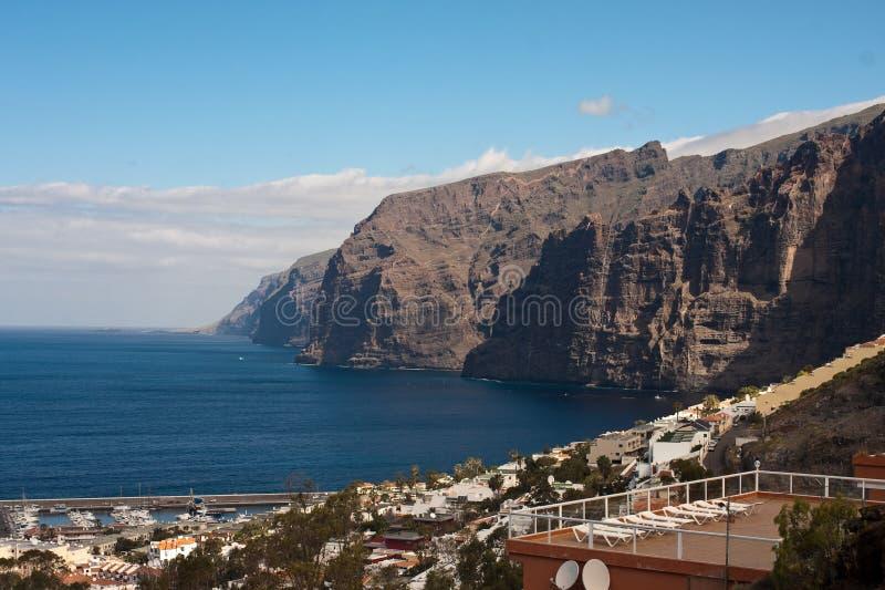 Los Gigantes in Tenerife lizenzfreies stockfoto