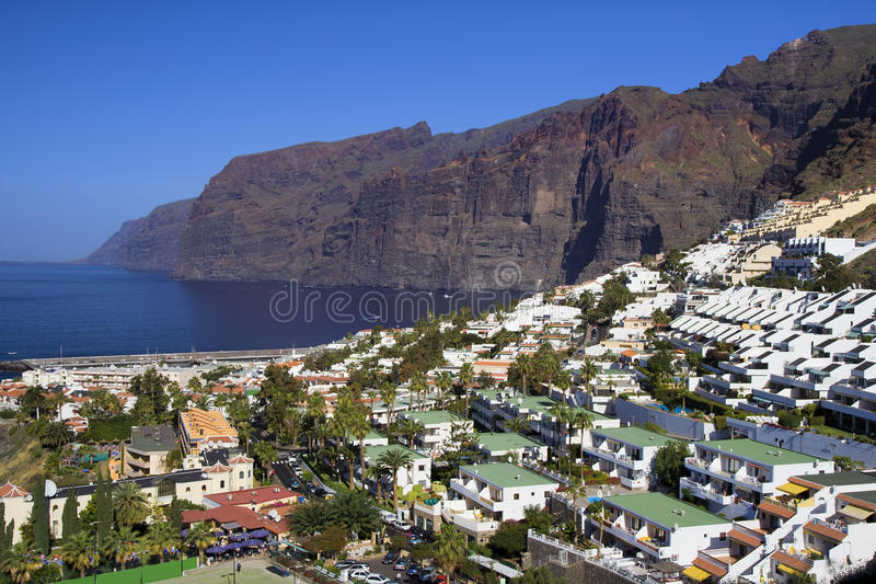 Los Gigantes in Tenerife royalty free stock images