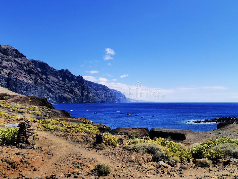 Los Gigantes on Tenerife royalty free stock photo