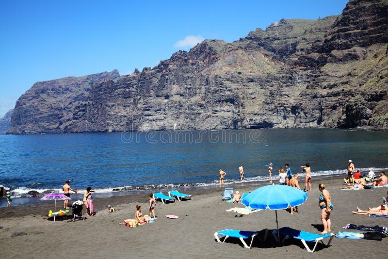 Los Gigantes, Tenerife, Ilhas Canárias, Espanha fotos de stock royalty free