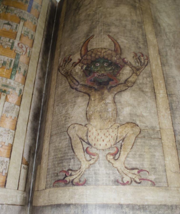 Los gigas del códice también llamaron la biblia de Devil's imagen de archivo