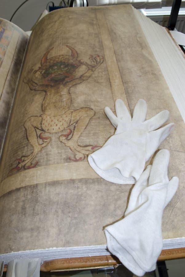 Los gigas del códice también llamaron la biblia de Devil's foto de archivo libre de regalías