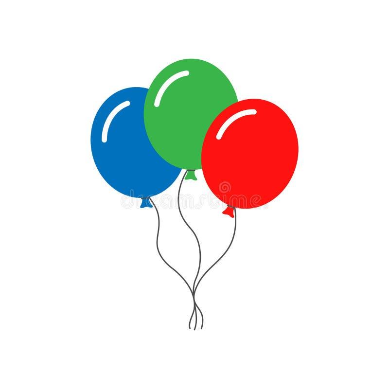 Los globos colorearon el sistema de las muestras libre illustration