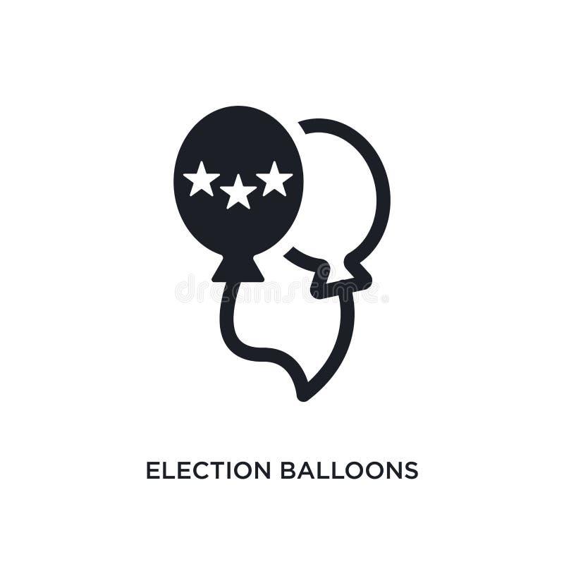los globos de la elección juntan el icono aislado ejemplo simple del elemento de iconos políticos del concepto pares de los globo libre illustration