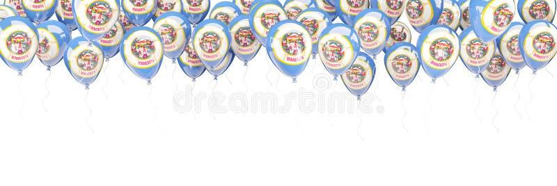 Los globos enmarcan con la bandera de Minnesota Banderas del local de Estados Unidos stock de ilustración