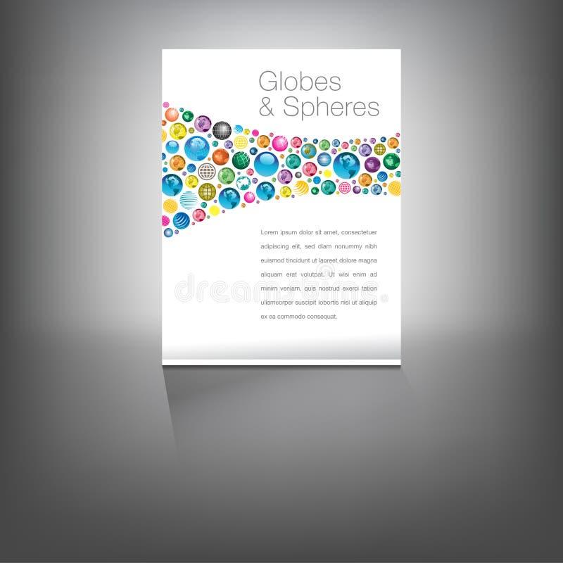 Los globos paginan con el fondo llano minimizado libre illustration
